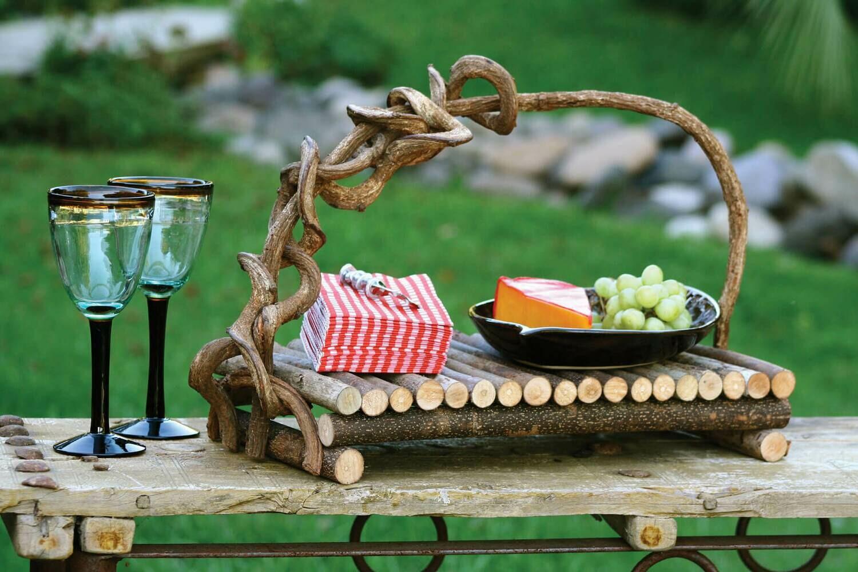 Twig Serving Tray w/Vine Handle