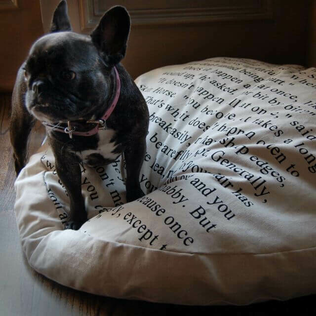 """Downfill Dog Bed, w/removable canvas,32""""Rd"""
