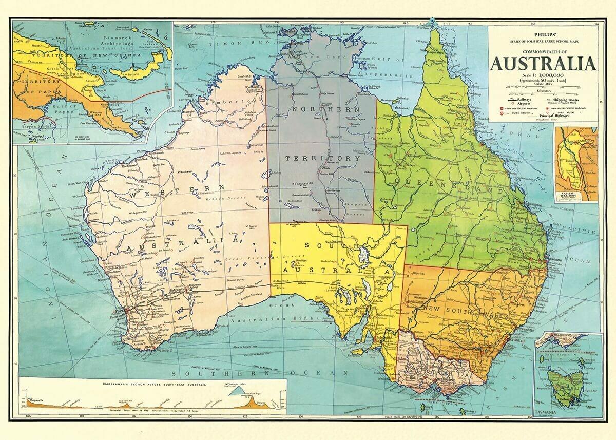 Australia Map-Aus /#9