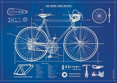Bicycle Blueprint Poster /#52