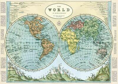 World Hemispheres Map-hem2 /#7