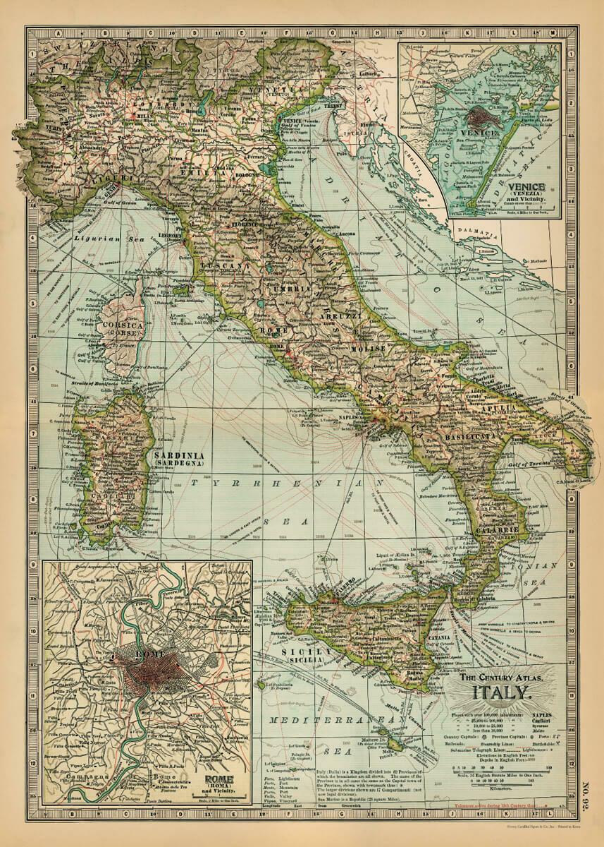 Italy Century Atlas Map-ITL /#22