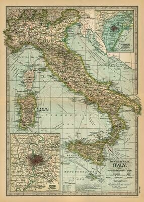 Italy Century Atlas Map-ITL /#22