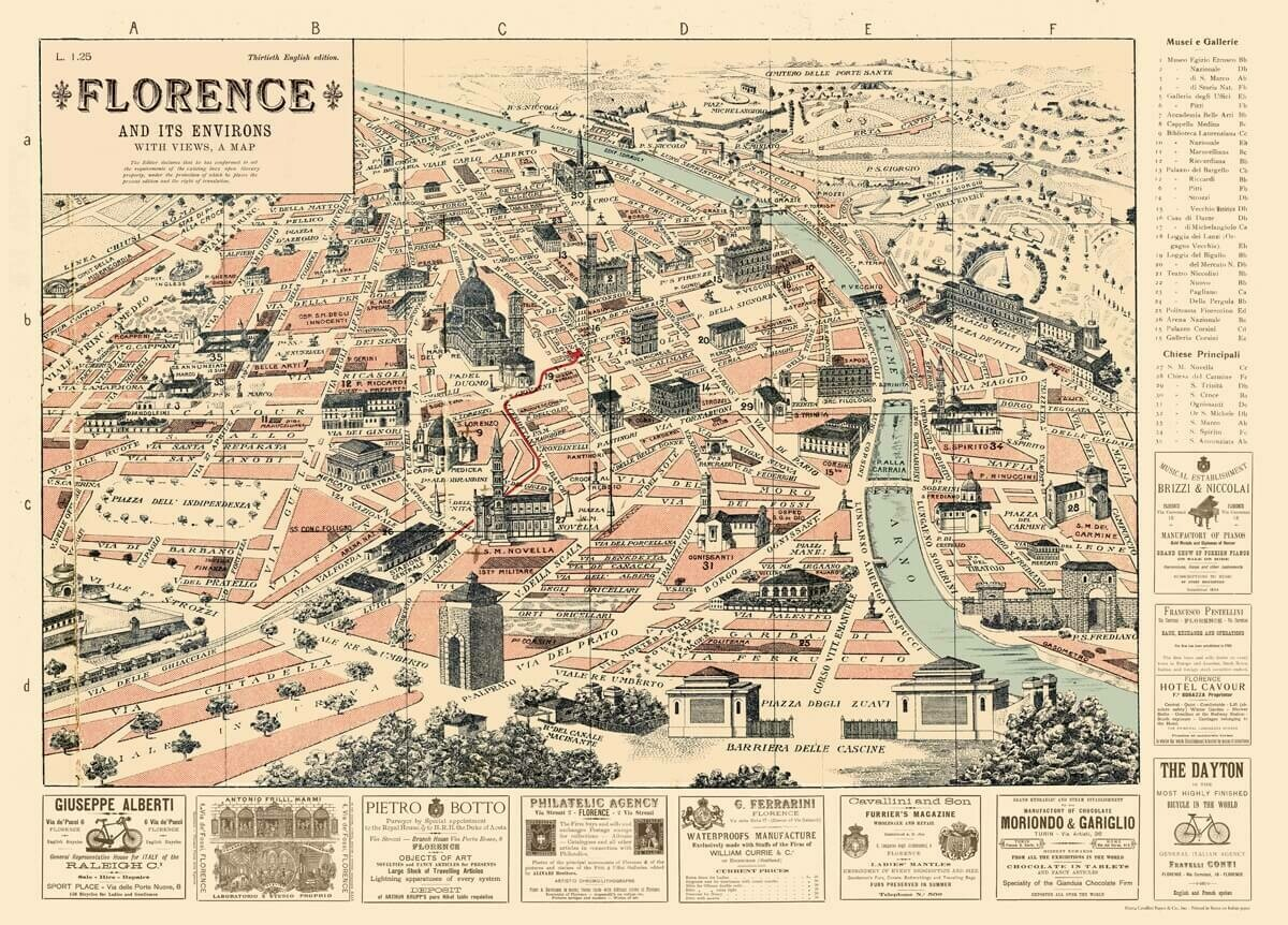 Florence n Environs MapFLR /#25