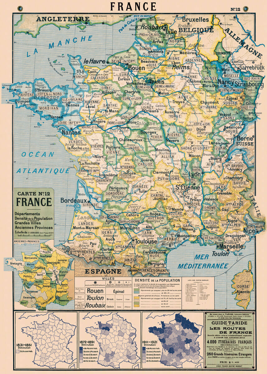 Carte No12 France Map-FRA2 /#12