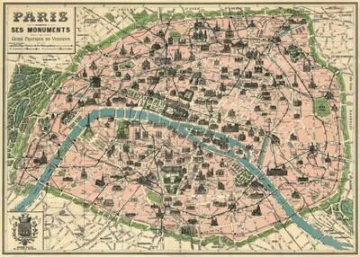 Paris Monuments Map-Par /#11