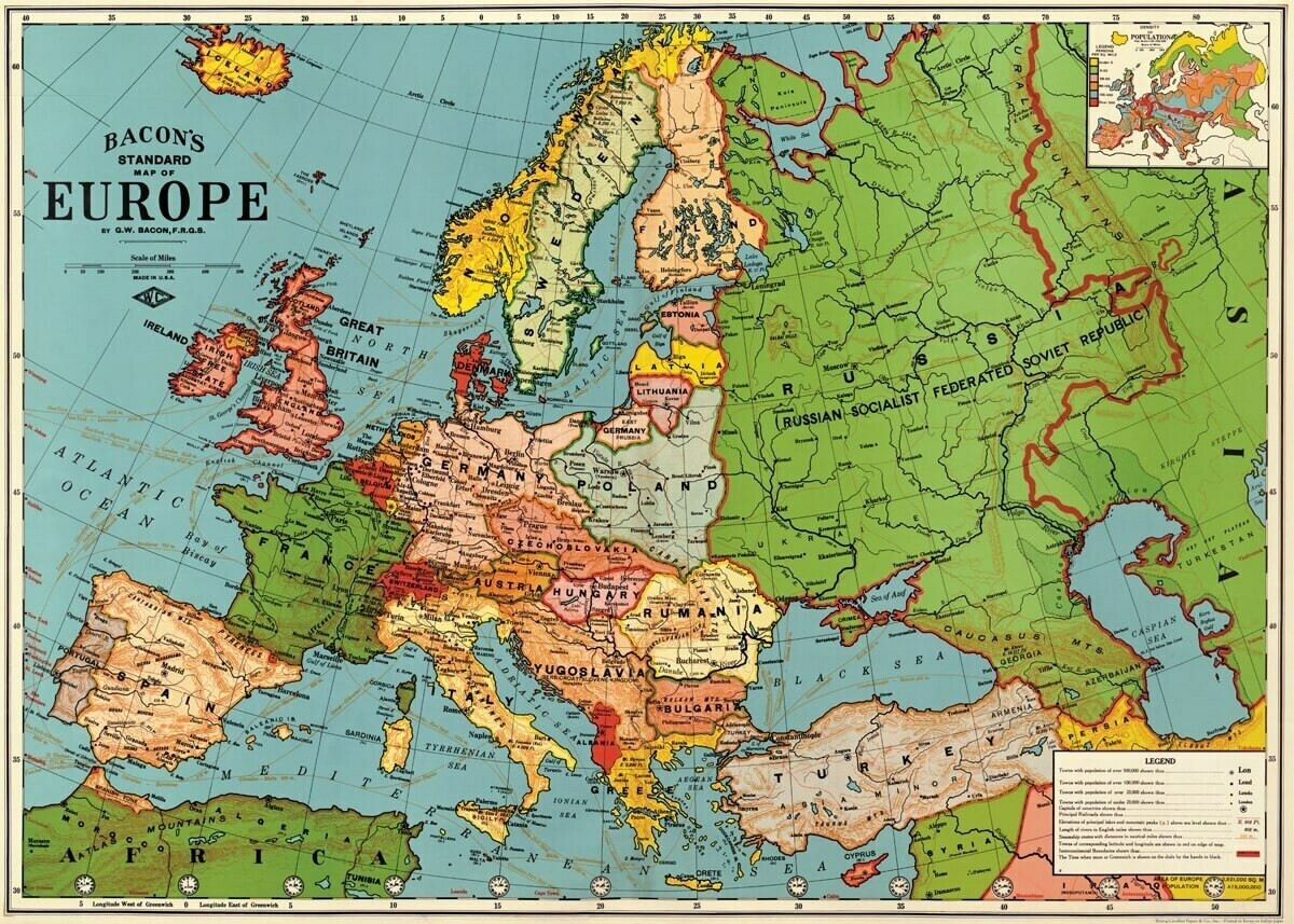 Bacon's Europe Map3 /#10