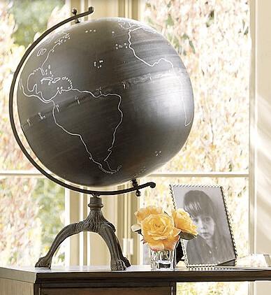 Chalkboard Globe On Iron Stand