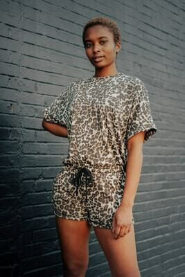 Boxy Leopard Lounge Top
