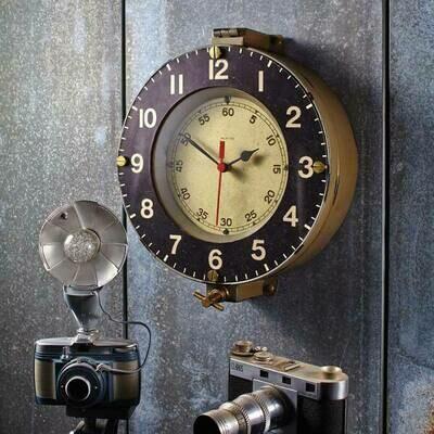 Marine Wall Clock Gray
