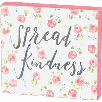 Block Sign-Kindness /37832