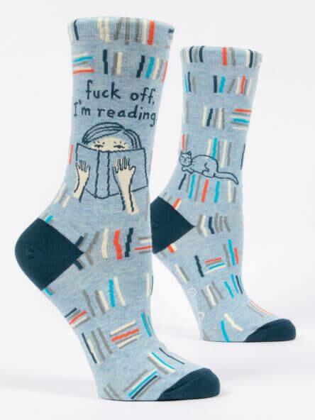 F*ck Off, I'm Reading Crew Socks