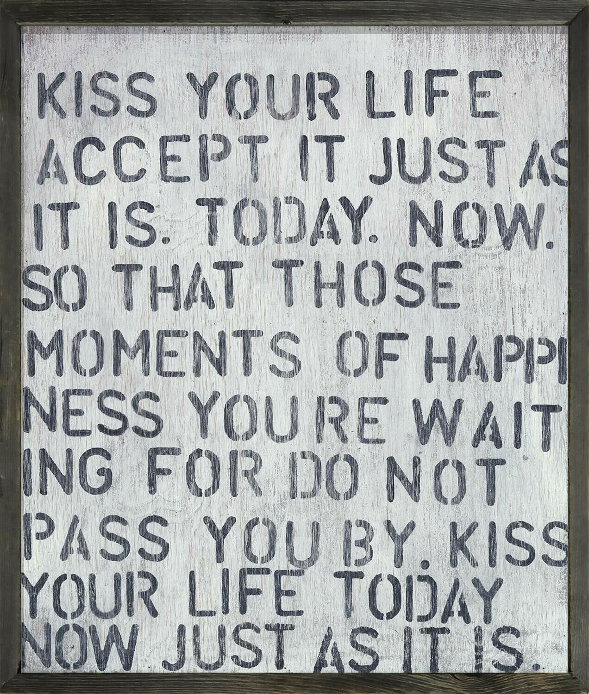 "24"" x 30"" Kiss Your Life"