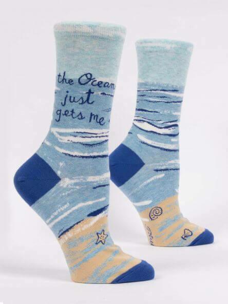 Ocean Gets Me Crew Socks /519