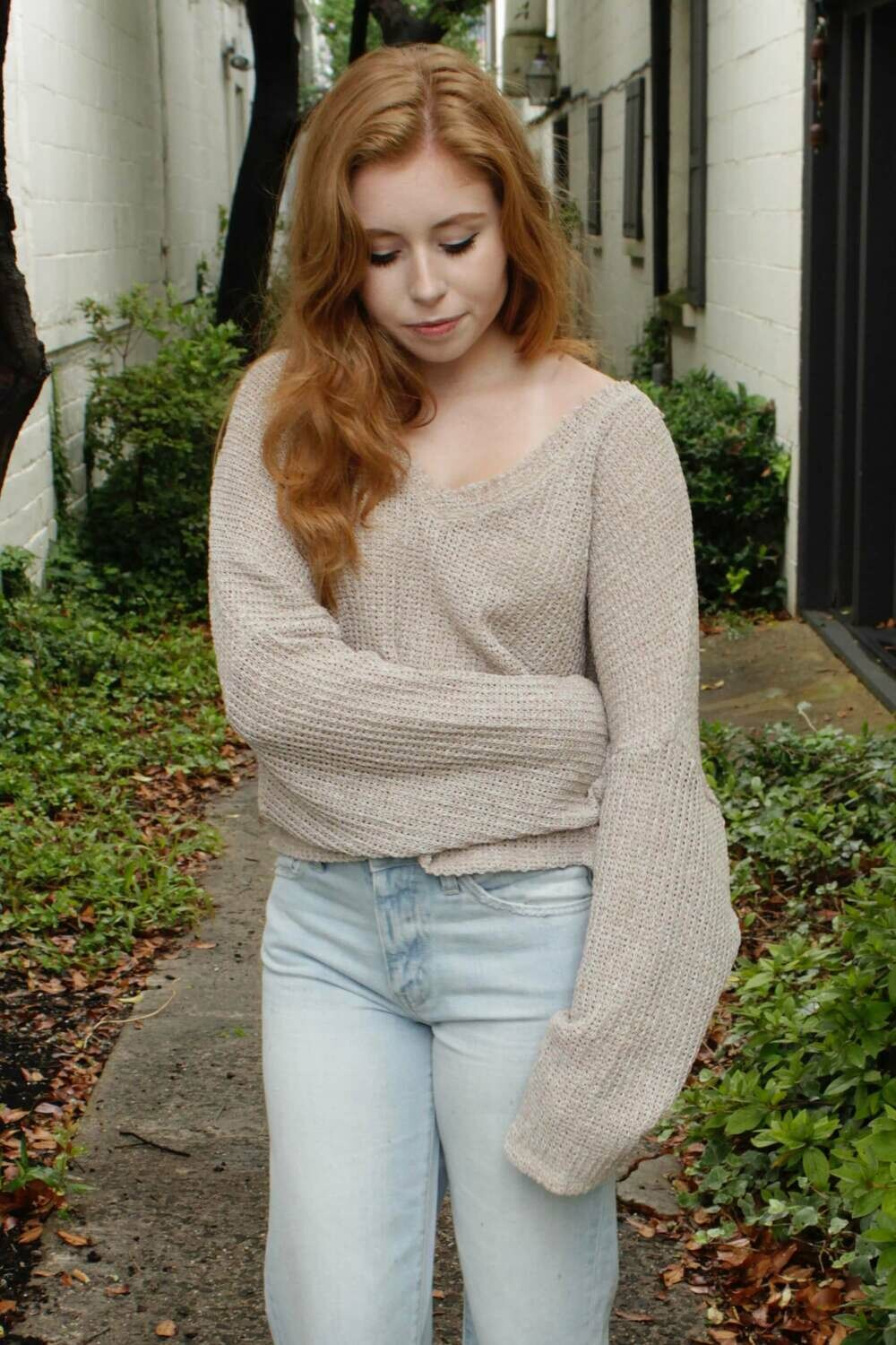 Oatmeal Loose Fit Sweater