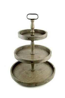 3 tier recycled wood stnd