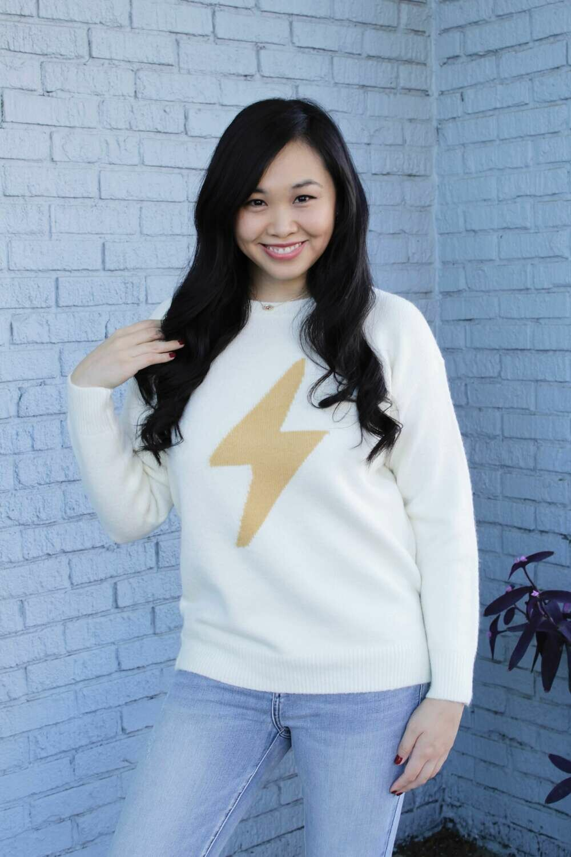 St31 Ivory Lightning Bolt Sweater