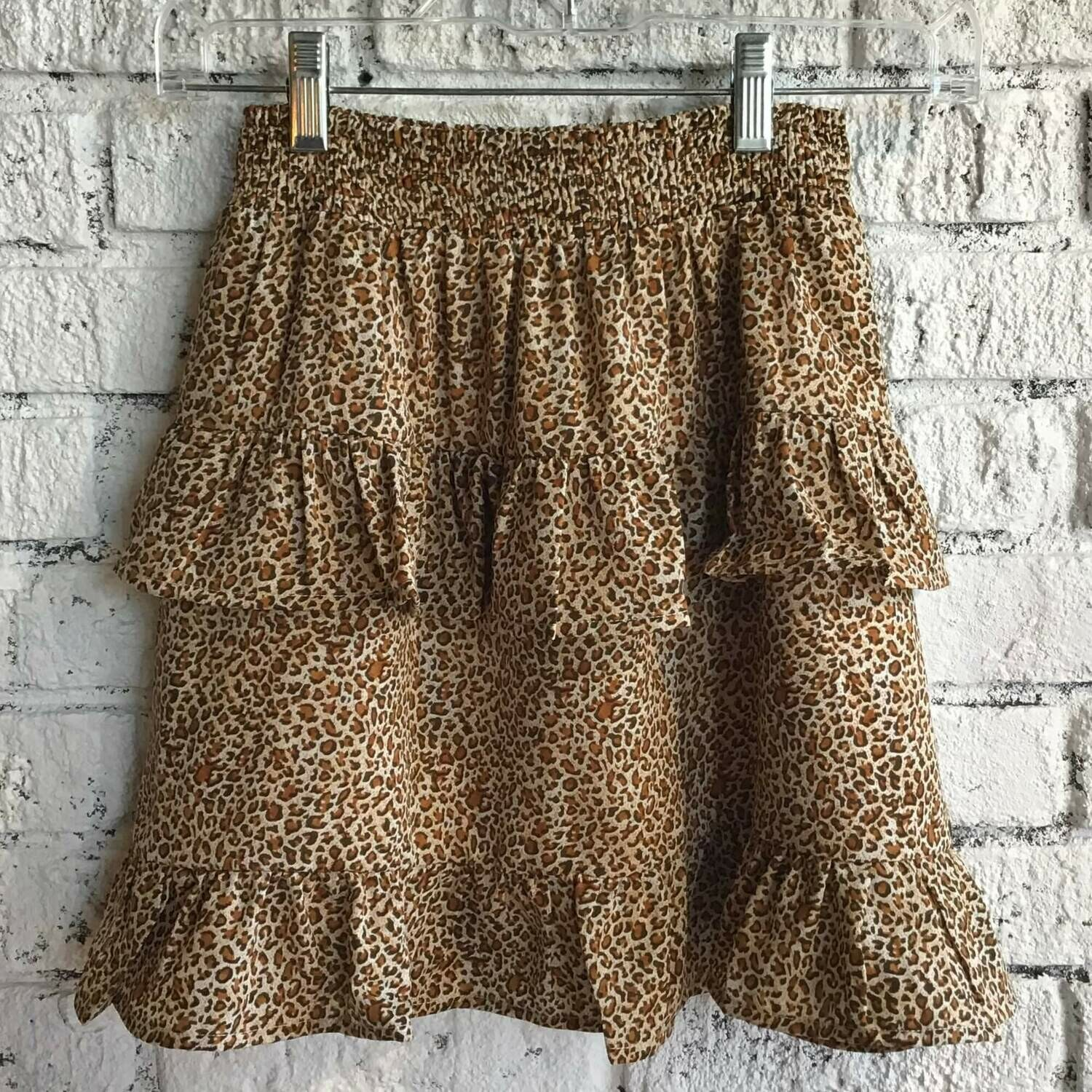 Tan Leopard Skirt