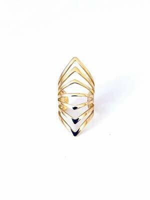 14k gold plated sterling fancy ear cuff
