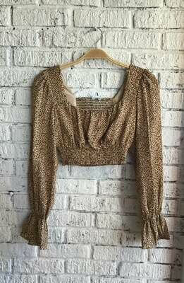 Tan Leopard Top