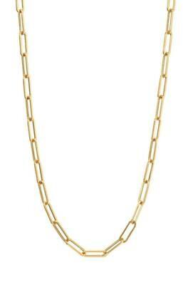 "16"" 14K goldplate steel clip chain /469"