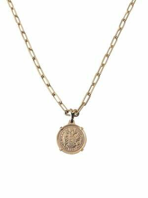 14k Gold fill Clip Chain Coin Necklace