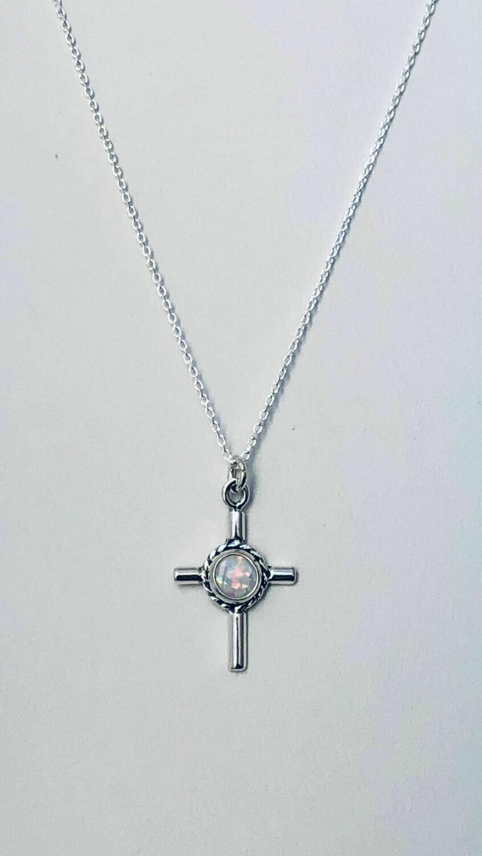 "16"" opal sterl crss nkl /316"