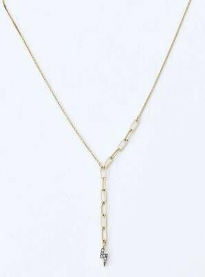 """Lightning Bolt Y 18"""" necklace /391"""
