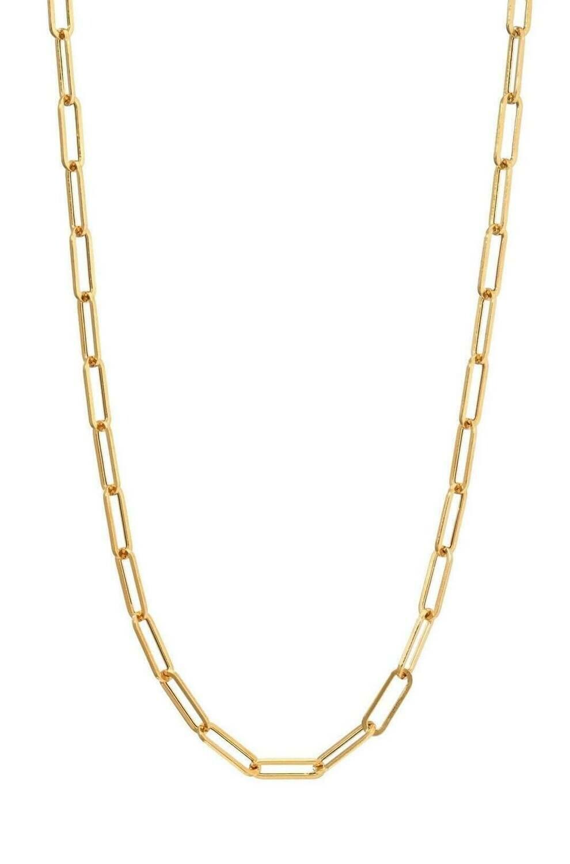 "18"" 14k goldplate steel clip chain"