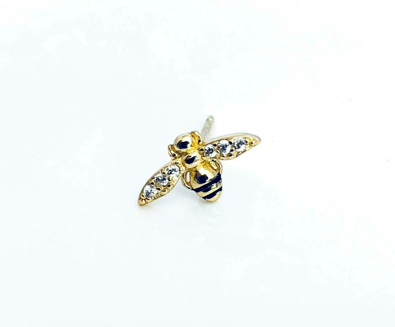 14K gldplt Sterl Bee Pst