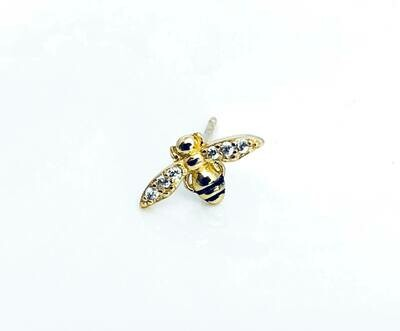14K gldplt Sterl Bee Pst