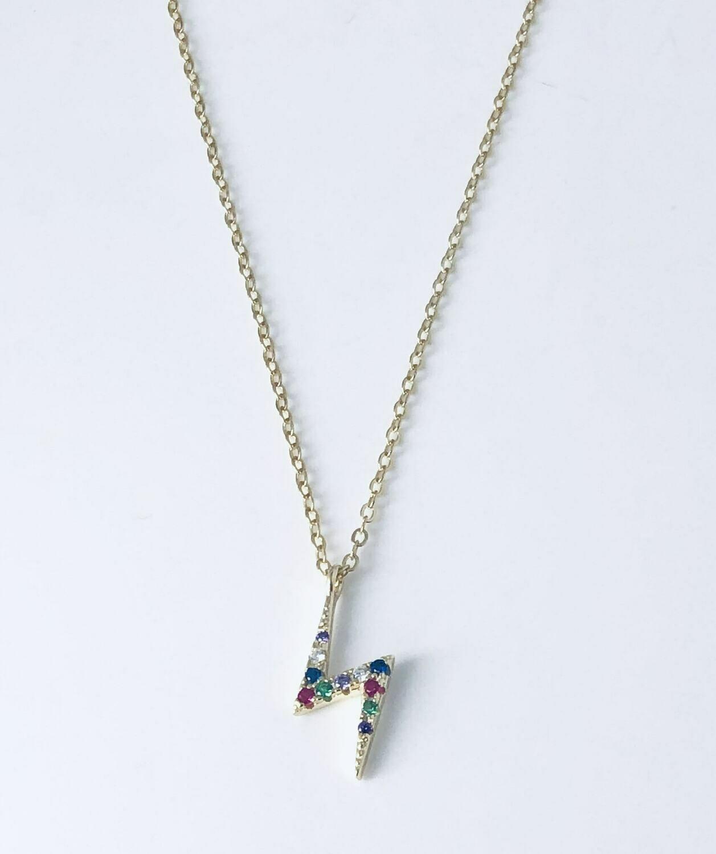 Rainbow Lightning Necklace