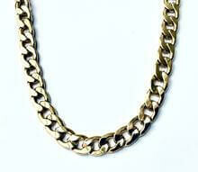 Bold 14K Gold Plate Steel Link Chain