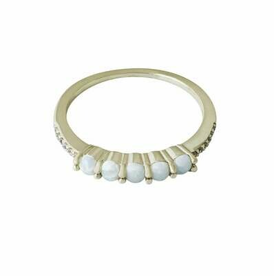Opal & CZ Ring