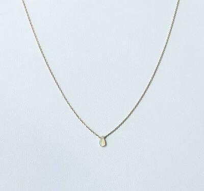 """ethiopian opal 14k gldplt ster 16""""nkl /409"""
