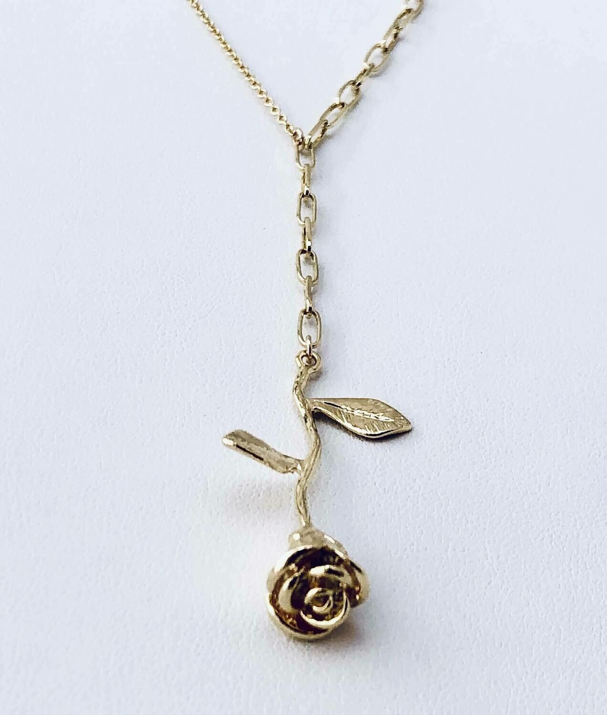14K Gold-filled rose necklace