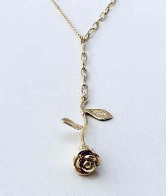 """14K Gold Filled Rose 18"""" Long Necklace /20433"""