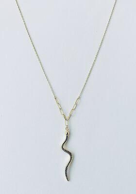 14k Gold Plate Sterling Silver Snake Necklace