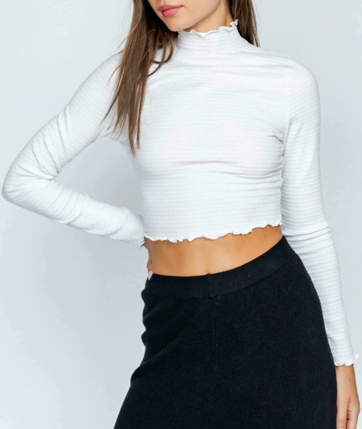Fitted smock top