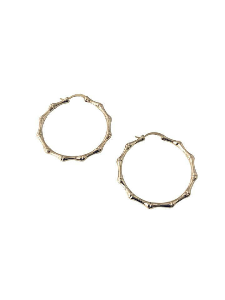 14k Gold Filled Bamboo Hoops