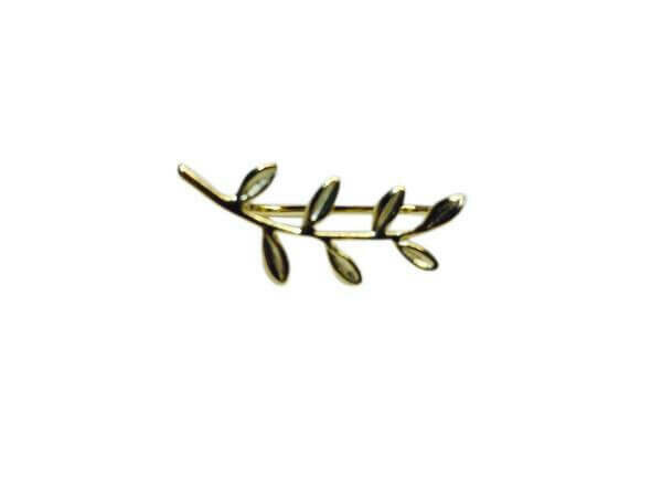 14k goldplate sterling silver branch ear climbers