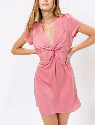 Satin twist front dress