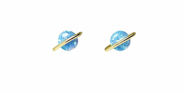 Blue opal planet post