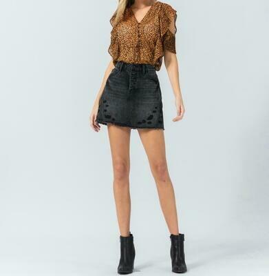 Vervet A-Line Mini Skirt