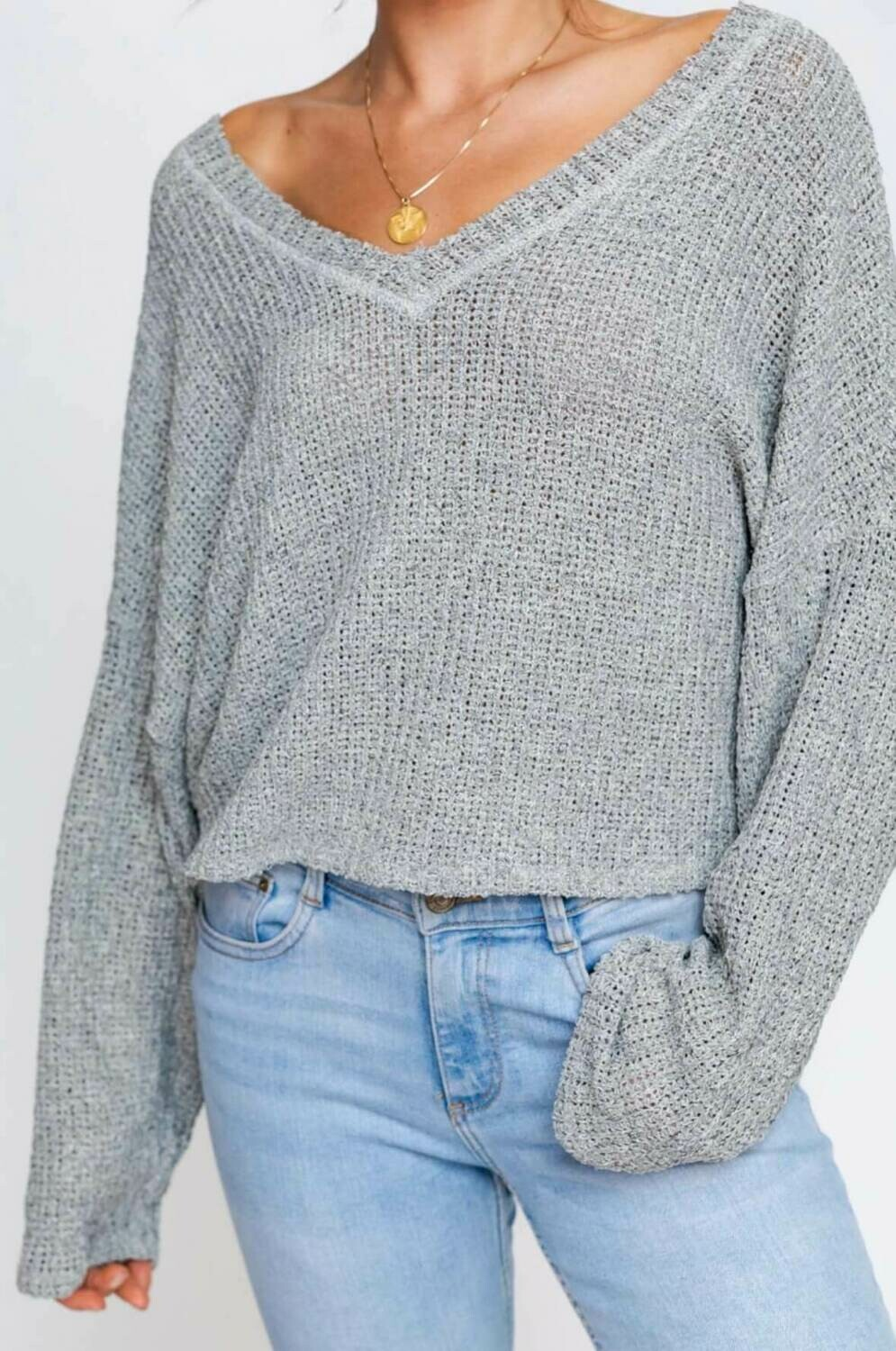Cement Loose Fit Sweater