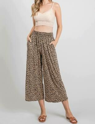 Wide Leg Leopard Pants