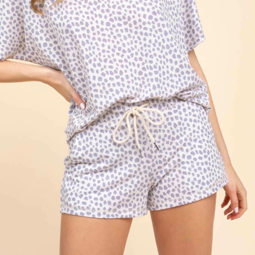 Gray Dot Shorts