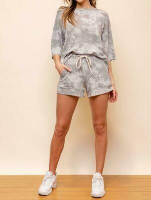 Gray Tie-dye Shorts