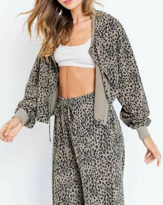 Cheetah Zip Hoodie
