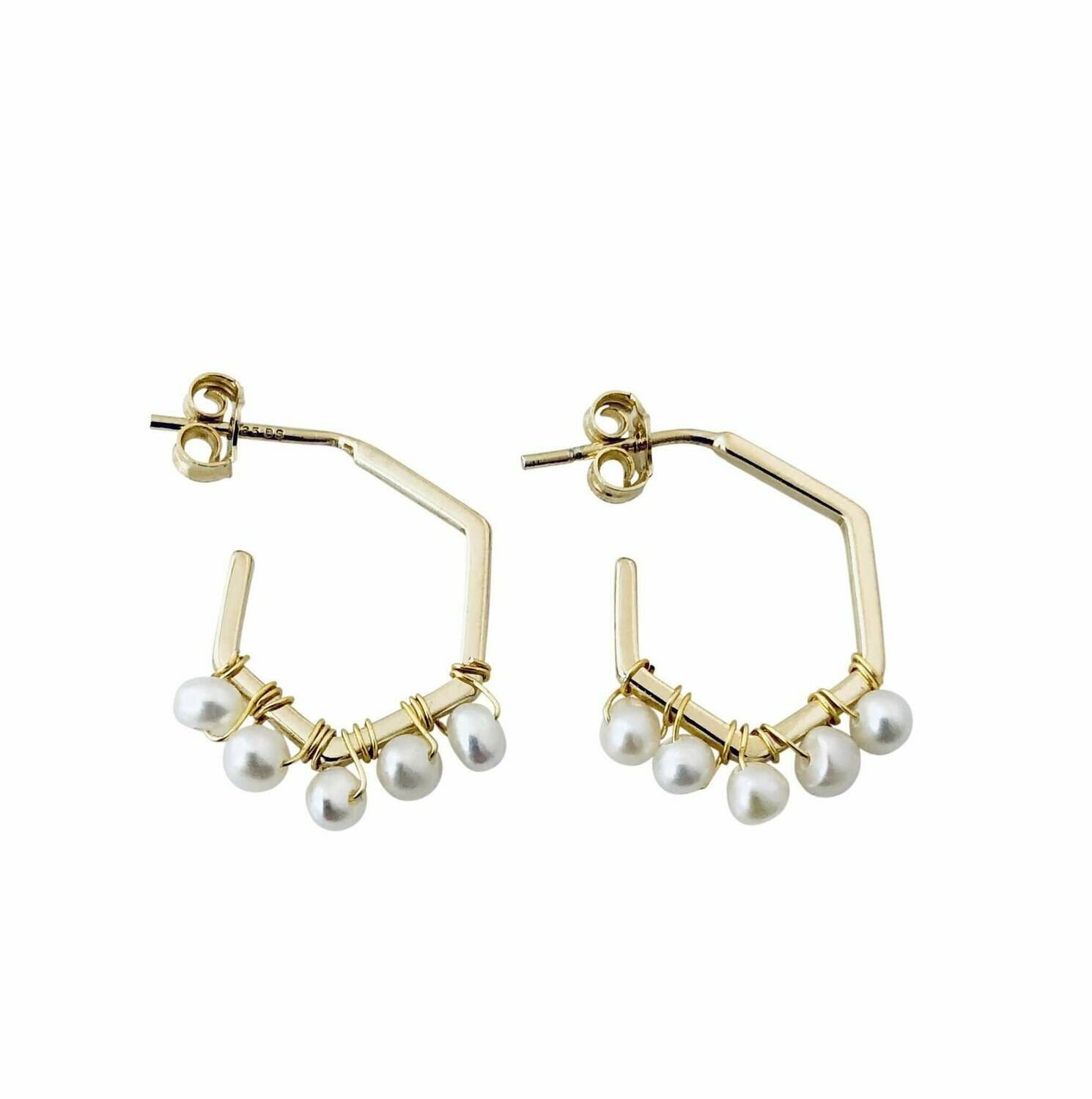 Freshwater Pearl Wrapped Earring